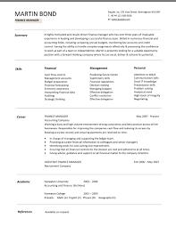 Resume Samples Program Finance Manager Fpa Devops Sample Financial