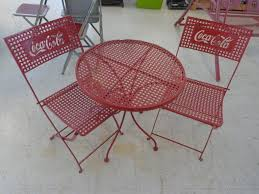 coca cola bistro table and chairs electronics snap on tools decor and more k bid