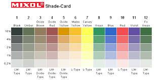 Mixol Tint Color Chart The Compleat Sculptor Mixol Pigments