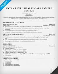 Entry Level Healthcare Resume Example Student Health Career.