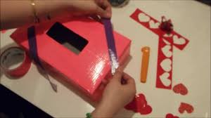 Valentine Shoe Box Decorating Ideas Valentines Box Tutorial DIY Duct Tape Holder YouTube 97