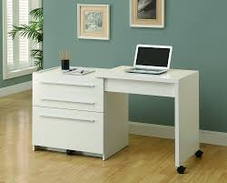 com monarch slide out desk with storage drawers white kitchen dining