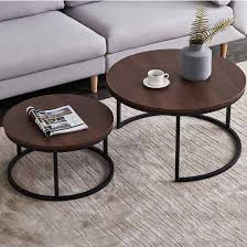 simple fashion round coffee table size
