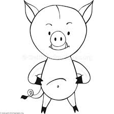 easy wild boar coloring pages