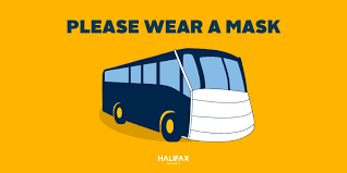 """Halifax Transit on Twitter: """"In support of public health recommendations,  we strongly encourage our riders to wear masks when possible. To help,  we'll be handing out free masks at terminals around Halifax."""
