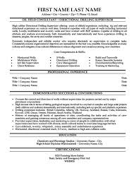 Oil Field Consultant Resume