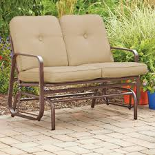wrought iron porch glider for appealing outdoor furniture ideas