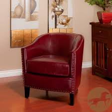 austin oxblood red bonded leather club chair by christopher knight home by christopher knight home
