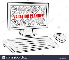 Personal Vacation Planner Vacation Planner Meaning Computers Scheduler And Vacational