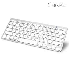apple bluetooth keyboard. aliexpress.com : buy german bluetooth keyboard with qwertz layout wireless for apple ipad iphone samsung ordinateur portable from reliable r