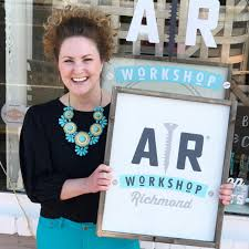 ar work is a boutique diy studio that offers hands on classes for creating custom charming home decor from raw materials