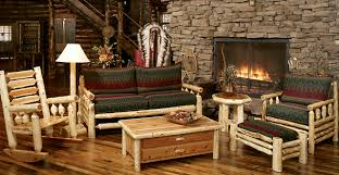 Rustic Living Room Set Amazing Rustic Living Room Furniture With Unfinished Round Wood