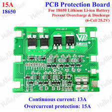 6S 15A 18650 <b>Lithium Li-ion</b> Battery BMS Circuit Protection PCB ...