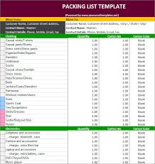 Ideas Collection For Packing List Template Excel Of Your Example ...