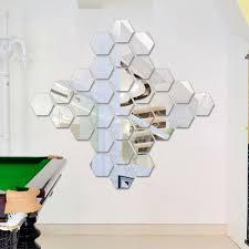 three dimensional hexagonal 7 piece wall decoration acrylic mirrored decorative sticker room decoration diy wall art  on diy dimensional wall art with three dimensional hexagonal 7 piece wall decoration acrylic mirrored