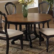 person dining room table foter: hillsdale wilshire round two tone leaf dining table hillsdale