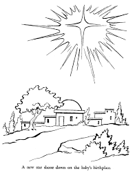 Religious Christmas Bible Coloring Pages Star Of Bethlehem For