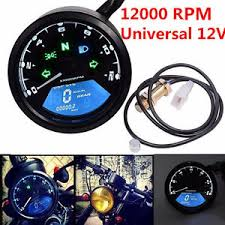 scooter speedometer ebay Cy50a Wiring Diagram lcd digital odometer 12000rpm speedometer tachometer for motorcycle scooter 12v! taotao cy50a wiring diagram