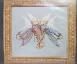 Angel Chart Details About Cross Stitch Angel Chart Heavenly Gifts Lavender Lace