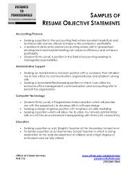 Sample Resume Objectives Statements Cover Letter Resume Objective Statement Example For Any Job