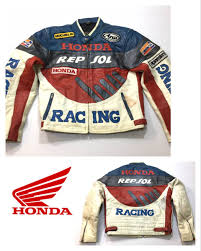 europe old clothes honda honda real leather racing leather jacket rider s full deco xl large size vintage original leather euro