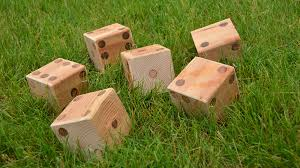Lawn Game With Wooden Blocks Make Lawn Dice 65