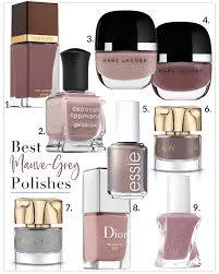 mauve grey and beige nail polish colors