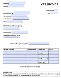 Invoice Template With Vat Value Added Tax 14 Free Word Excel Pdf