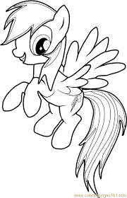 Rainbow Dash Coloring Pages Chronicles Network