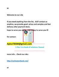 Test bank and Soluiton 2018 -2019 list 4 by A plus for Test bank and ...