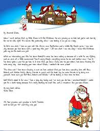 Free Letter From Santa Word Template Letter To Print Christmas From Santa Template First