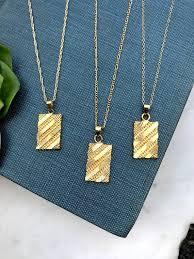 gold medallion necklace vintage style