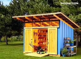 12 12 lean to storage shed plans
