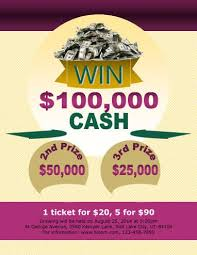 Cash Raffles 16 Free Raffle Flyer Templates Prize Cash 50 50 Fundraising And