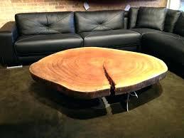 tree trunk coffee table stump wooden wood log side base