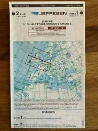 Details About Jeppesen Europe High Altitude Chart E Hi 1 2 Expired Not For Navigational Use