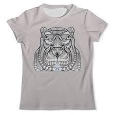 """Мужские <b>футболки</b> c необычными принтами """"гиппопатам"""" - <b>Printio</b>"""