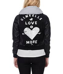glamour kills young love black faux leather hooded jacket