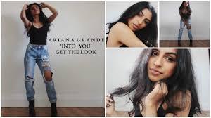 ariana grande into you video makeup hair outfit tbxo you