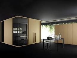 wood and glass office partition