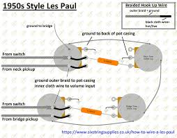 six string supplies how to wire a les paul 50s wiring wiring diagram for gibson les paul