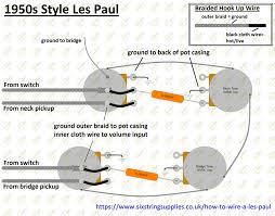 six string supplies 50 s les paul wiring 50s les paul wiring