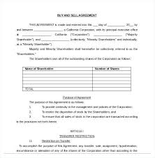 Example Buy And Sell Agreement Free Download Share Purchase Template ...