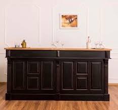 Casa Padrino Country Style Bar Counter Antique Black