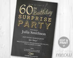 60 birthday invitations surprise 60th birthday invitations surprise 60th birthday