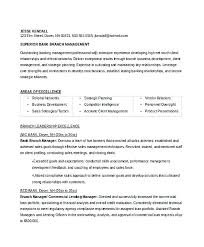 Bank Manager Resume Sample. Resume Sample For Banking Operations ...