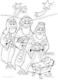 Kleurplaat Drie Koningen Jezus Kleurplaat Zima Vánoce