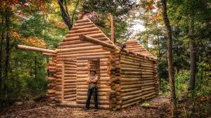 log cabin build you can do this too my self reliance