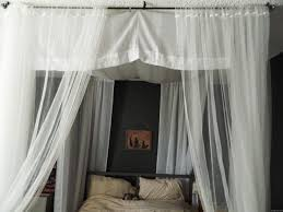 Bed Canopy Diy Inspiring Diy Canopy Bed With Curtain Rods Images Design Ideas