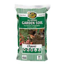 2 cu ft all natural garden soil for flowers and vegetables